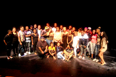 Minister Marais with all the drama festival participants