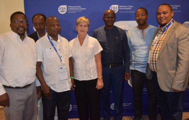 Minister Marais with Clement Wiliams, Msokoli Qotole, Monwabisi Mtyiwazo, Sam Khandlela, Prof Ralarala and Guy Redman at the Consultative Initiation Meeting in Cape Town