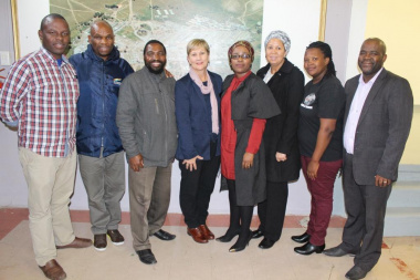 Minister Marais with senior DCAS staff from Museum Services and board members of the Lwandle Museum