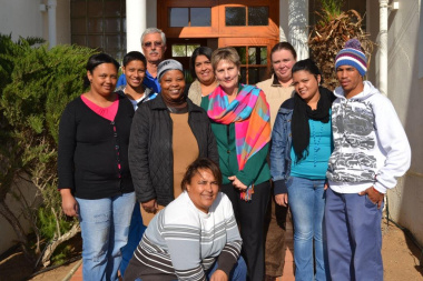Minister Marais with staff at the Wheat Industry Museum in Moorreesburg