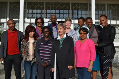 Minister Marais with staff members at the George museum