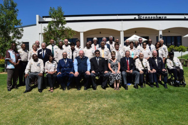 Minister Marais with the 2016 Sport Legends and esteemed guests