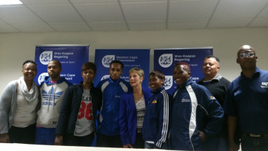 Minister Marais with the captains