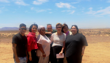 Minister Marais with the Library and Museum Services staff members who are part of the Oral History project
