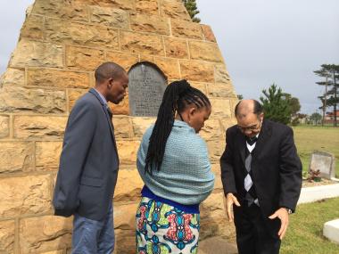 Minister Mbombo at the Kranshoek Monument