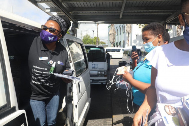 Minister Mbombo visited Wynberg Taxi Rank to raise awareness on men's health