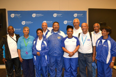 Minister Mbombo with the captains from the various regions