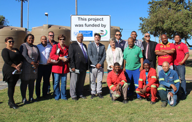 Minister of Cultural Affairs and Sport Anroux Marais officially opened the new borehole at the Vredenburg Sports Complex on 17 April 2019