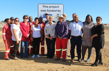 Minister of Cultural Affairs and Sport Anroux Marais visited the new BMX track in Louwville outside of Vredenburg on 17 April 2019