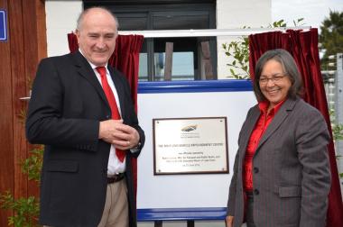 Unveil the plaque at the Maitland Vehicle Impoundment Centre.