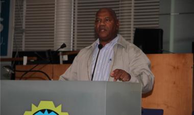 Minister Plato address the Neighbourhood Watch members from across the metro.