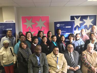 Minister with Oudtshoorn social work team