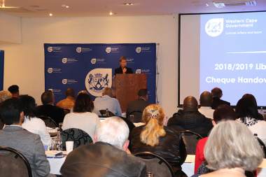 Minster Marais delivered an inspiring keynote address