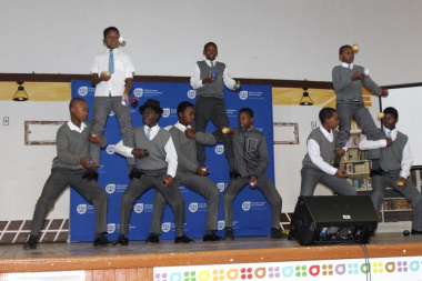 MOD Centre learners entertained the audience with their impressive juggling skills