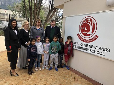 from left to right: Rahdia Khatieb Parker, School Principal Ms J Reid, Western Cape Education Minister, Debbie Schafer and Western Cape Transport and Public Works Minister Donald Grant