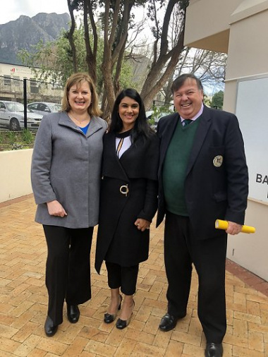 from left to right: Western Cape Education Minister, Debbie Schafer, Rahdia Khatieb Parker and Western Cape Transport and Public Works Minister Donald Grant