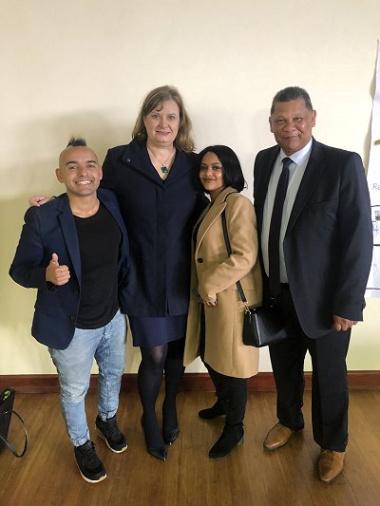 Radio DJ and TV presenter, Carl Wastie, Provincial Education Minister, Debbie Schäfer, Season 13 Idols South Africa winner, Paxton Fielies, and  school Principal Mr Kannemeyer