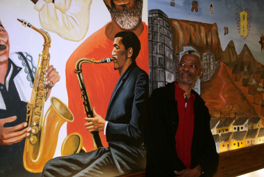 Mr Cyril Ngcukana was happy that his uncles Ezra and Christopher (jazz legends) are depicted in the mural.