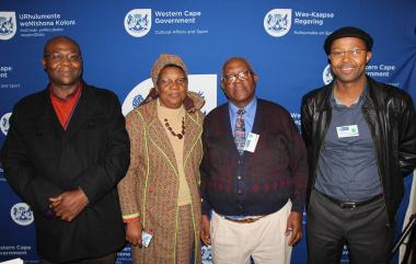 Mr Gilboni Matiso, Ms Jane Moleleki, Dr Mtobeni Guma and Dr Monwabisi Ralarala at the workshop.
