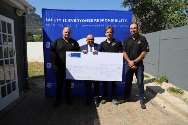 Mr JJ De Villiers, Minister Fritz, Mr J Scholtz & Mr B Brown
