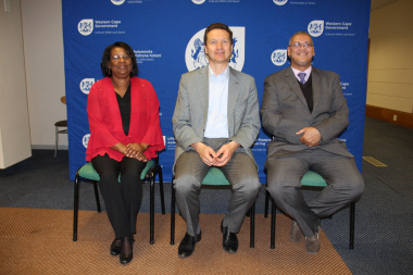 Ms Jane Moleleki, Mr Vladimir Melnikov and Adv Lyndon Boauh.