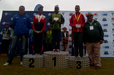 Mursha robbenson was one of five Central Karoo Sport Academy athletes to medal in Knysna
