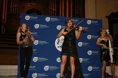 Musical entertainment from CODA kept the audience enthralled.