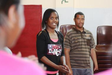 Nandipha Sandlana facilitating one of the sessions on Tuesday.