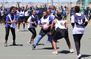 Netball teams brought their A game, with a match between DCAS and Health.