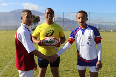 New friends were made on the rugby field at the RSDP Games in the Overberg