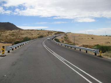 New guardrails and first resealing layer on the R399.