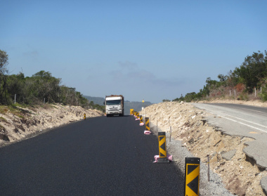 New section of road opened 18 November 2018 between Great Brak River and Tergniet