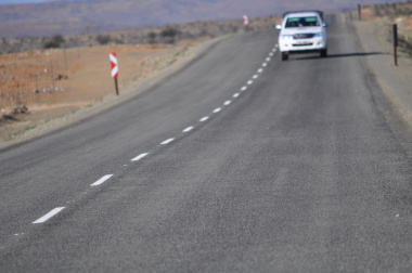 Newly upgraded Merweville Road.