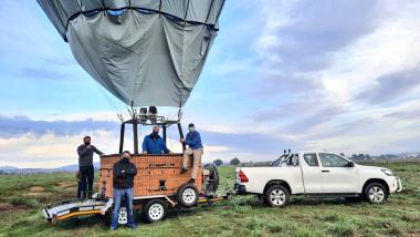 Minister David Maynier visits Nova Hot Air Balloons