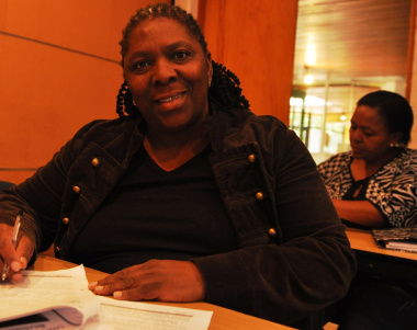 Ntombi Sibozo is grateful for the training.