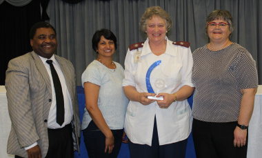 From left: Tendani Mabuda(Director: Nursing, Western Cape Government Health), Dr Anita Parbhoo (Medical Manager, Red Cross War Memorial Children's  Hospital), Jane Booth and Mitzi Franken (Nursing Manager, Red Cross War Memorial Children's  Hospital)