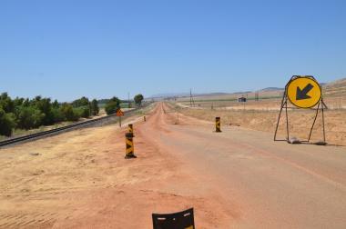 Old Malmesbury  Road seen from the Kalbaskraal side.