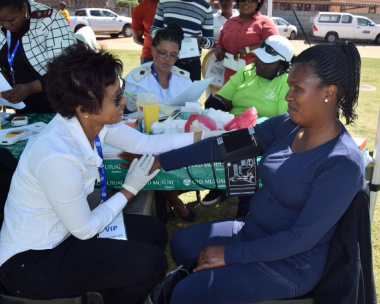 Old Mutual rendered free health screening and spot prizes to BTG participants in the West Coast