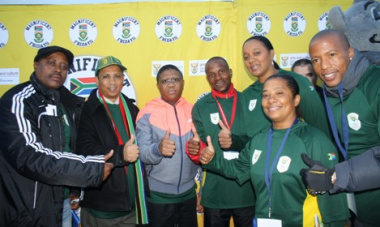 Olympic hype at Bellville Station