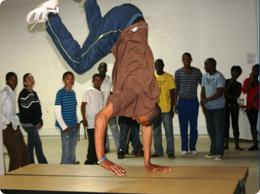 One of the aspiring dancers showcase his skills at the workshop held at the Kleinplasie Museum  (3)