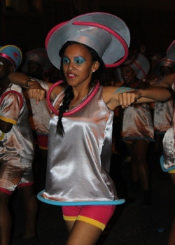 One of the MOD students during the carnival