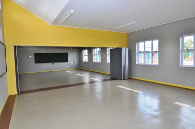 One of the senior phase classrooms.