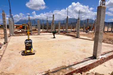 One of the senior phase classrooms being built.