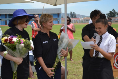 One of the student leaders read a poem to express their thanks for the new facilities