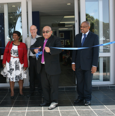 Minister Albert Fritz  declares the new offices open as Nokuzola Stali, Mike Richardson and Mzwandile Hewu observe