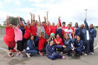 Overstrand Municipality and OAFB integrate on the netball courts at the Overberg BTG