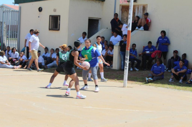 Overstrand Municipality in an intense match against the Department of He...