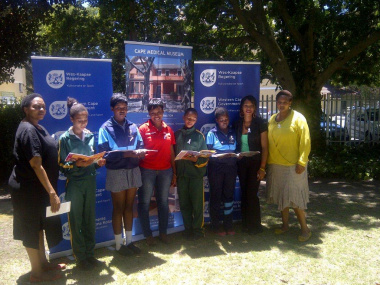 Pamella Ntlokwana and Beaulla Stofile with some of the participants