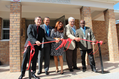 At the opening (from left) Spencer McNally, Dr Keith Cloete, Louise Driver, Usman Ahmed and Dr Matodzi Mukosi.