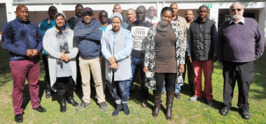 Participants at a training and mentoring programme event.